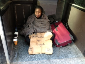 Homeless and Pregnant or Homeless and Scam Artist?