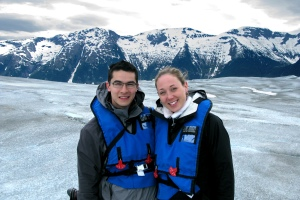 On top of Taku glacier