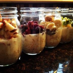 Breakfast to-go jars!